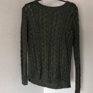 Olive Green Knit Top